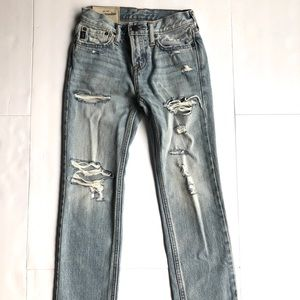 New! Abercrombie kids distressed jeans size 8 boys